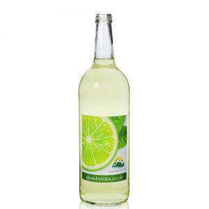 1000ml Clear Mountain Bottle w Label