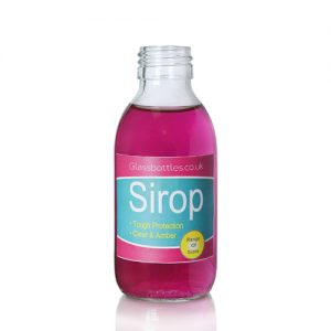 150ml Clear Sirop Bottle with label