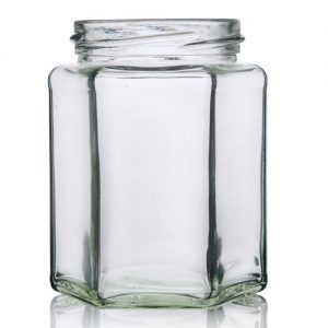 280ml Hexagonal Glass Jar
