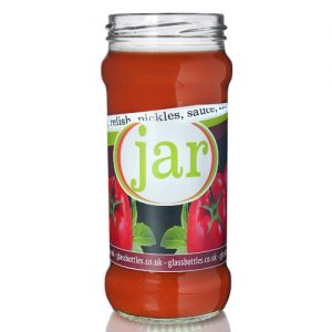 370ml Glass Chutney Jar w Label