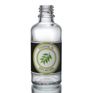 50ml Clear Glass Dropper Bottle w label