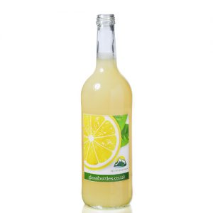 750ml Clear Mountain Bottle w Label
