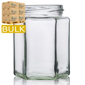 280ml Hexagonal Glass Jars