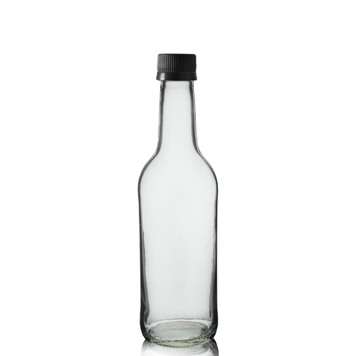 330ml Clear Glass Mountain Bottle & MCA Screw Cap