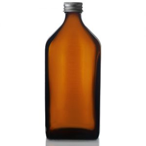 500ml Amber Rectangular Bottle with Screw Cap