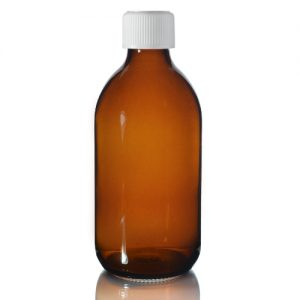 300ml Amber Sirop Bottle with Medilock Cap