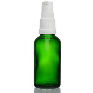 30ml Green Dropper Bottle with Lotion Pump