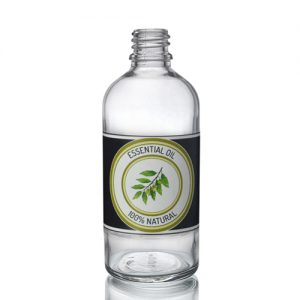 100ml Clear Glass Dropper Bottle