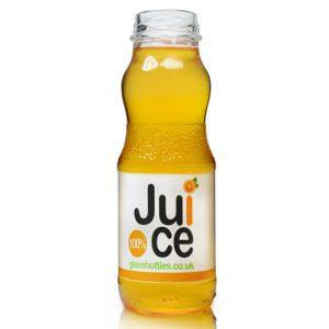 240ml Glass Juice Bottle filled
